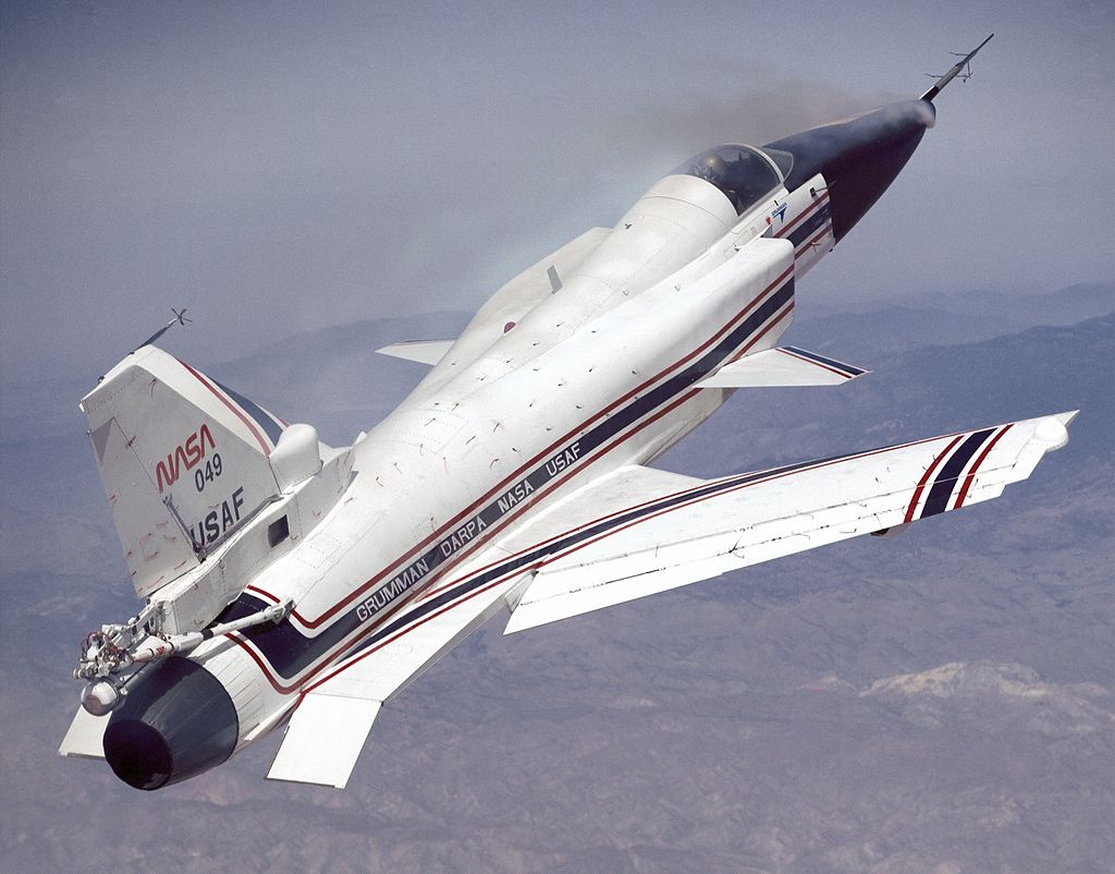 Grumman X-29 with forward-swept wings