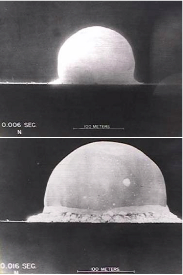 Nuclear Explosion Time Frames